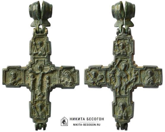 """Крест-энколпион """"Распятие Христово. Никита Бесогон"""""""