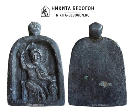 "Икона ""Святой мученик Никита, истязающий беса"""