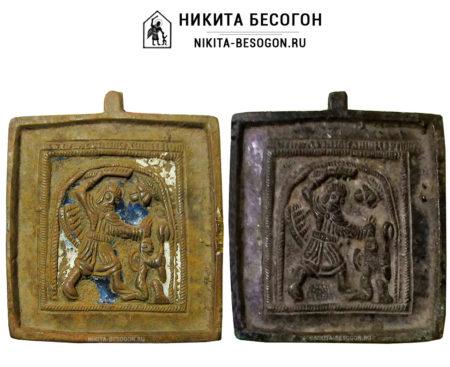 Никита Бесогон - икона с эмалями