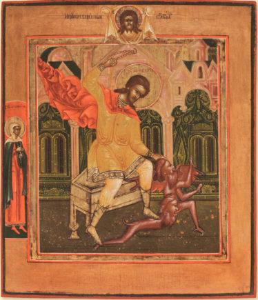 Святой Никита Бесогон, побивающий беса