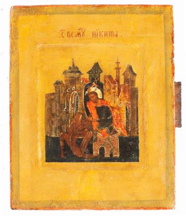 Икона. Великомученик Никита. XIX в.