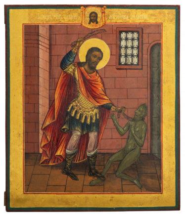 Священномученик Никита Бесогон, икона 19 века