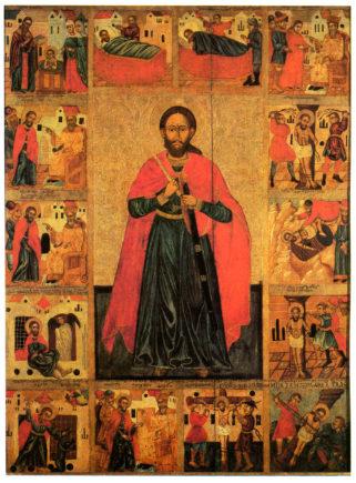 Святой Никита, с житием. Икона из Церкви Святого Никиты, Костомлоты, Польша