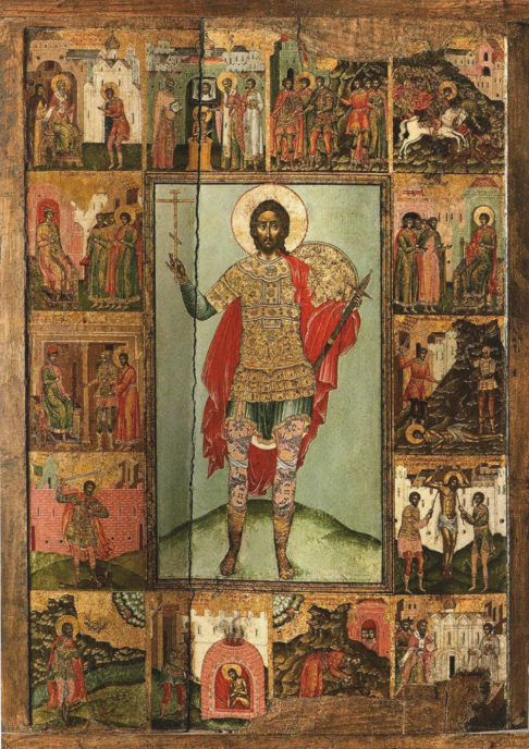 Икона Никита велкомученик, в житии. Ухтомский Феодот Феофанов