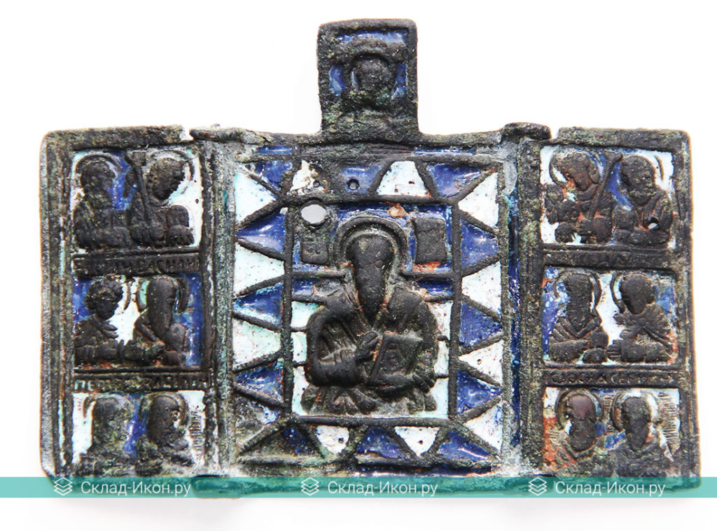 Образ Антипы Пергамского на меднолитых иконах. Меднолит