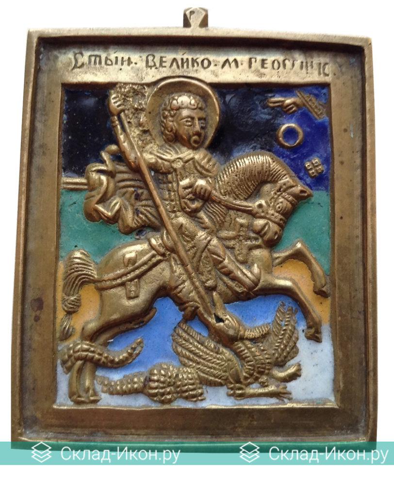 Образ Георгия Победоносца или «Чудо Георгия о змие» на меднолитых иконах