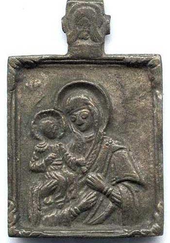 Богоматерь Троеручица на медно-литых иконах. Меднолит каталог