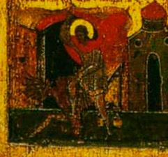 Композиция «Св. Никита, избивающий беса»
