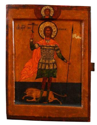Икона. Великомученик Никита, попирающий беса