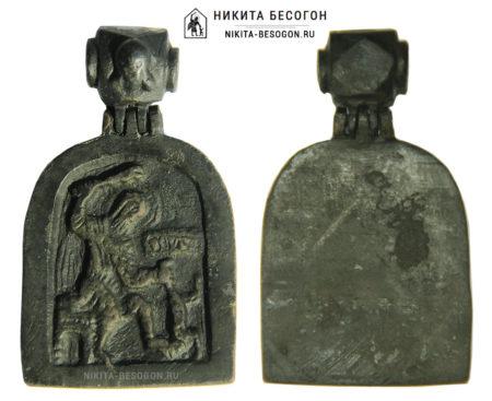 Икона с подвижным оглавием Никита Бесогон