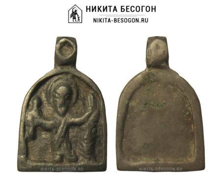 Иконка-привеска Святой Никита, побивающий беса