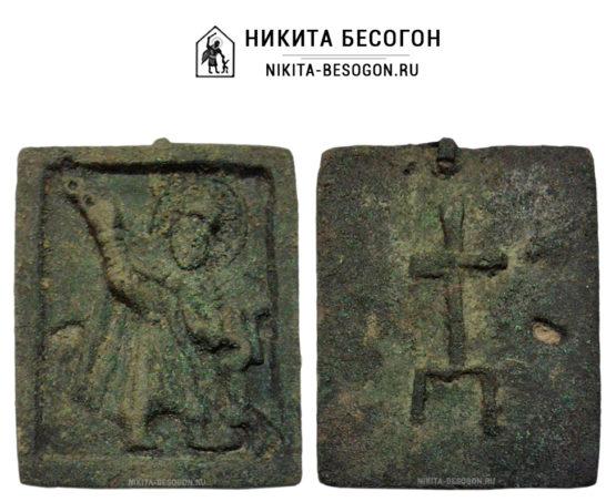 Двусторонняя икона Никита Бесогон. Престол уготованный