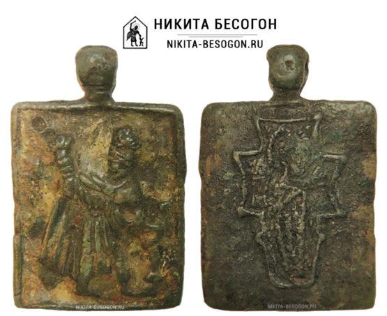 Двухсторонняя икона Никита Бесогон - Богоматерь