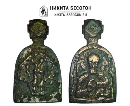 Двухсторонняя икона Николай Чудотворец - Никита Бесогон